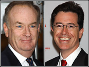 Bill O'Reilly and Stephen Colbert, together for the first time -- and twice on one night!