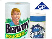 G-P's Brawny and Sparkle brands will now be handled by DDB.