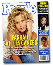 'People' reveals how Farrah Fawcet is coping with cancer.