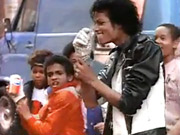 Alfonso Ribeiro (left) and Michael Jackson in the 'street' scene of the classic 1984 Pepsi ad.