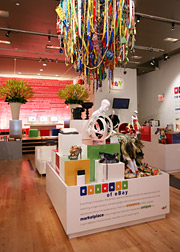 Although no goods were for sale in eBay's pop-up store, editors were able to see the types of items found on the website.