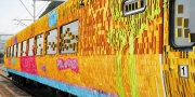 Cheil's high-speed 'Sticky Train' heads to a temple.