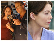 CBS ran original programming Thursday night, as its 'CSI' (left) was able to hold off ABC's rerun of 'Grey's Anatomy.'