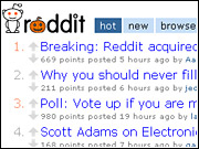Reddit, much like Digg.com, allows users to determine which stories and links should be given the most prominence on a lead web page. Conde Nast has used its technology for Lipstick.com.