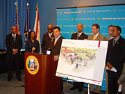 Mr. Harman held five town-hall-style meetings with New Orleans area residents.