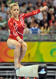 The American women's gymnastics team lost their balance, but ended up with a silver medal.