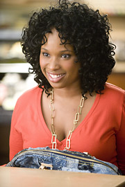 Jennifer Hudson plays Louise, who turns to Bag, Borrow or Steal to feed her handbag habit.