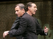 Starbucks Chairman Howard Schultz, right, is returning as CEO of the coffee behemoth he founded, replacing president-CEO Jim Donald, left, seen together at an annual shareholders meeting in Seattle in March 2007.