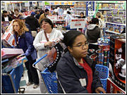 Despite packed parking lots and long lines, the shopping stampede didn't benefit all retailers the same.