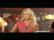 Jessica Simpson as Daisy Duke in the DirecTV ad.