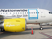 Nationwide's deal offers a peek into what could be the next target of ad creep and a salvo to the bleeding balance sheets of many of the nation's struggling airlines, who might one day follow Skybus' lead.