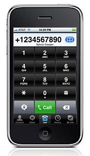 The Skype iPhone app