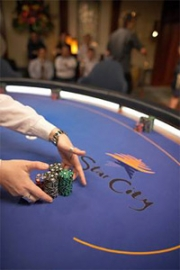 The Star City casino put its brand on cards, chips and tables for a popular poker TV show.