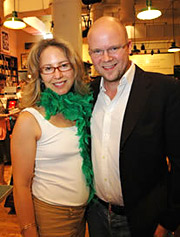 Laurel Touby and author Toby Young at a recent Mediabistro event.