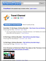 The Travel Channel's FriendFeed