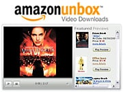 All the major movie studios except Walt Disney Pictures are offering their movies for download on Amazon's Unbox.