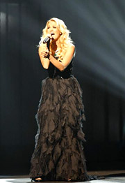 Carrie Underwood performing at the '42nd Annual CMA Awards.'