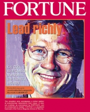 Custom covers of Fortune magazine were created for each sales target.