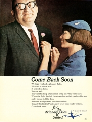 A United Airlines ad that ran in Newsweek during the