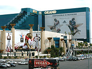 Open shot: Massive signage in Las Vegas was linked to a mobile effort for Adidas and NBA