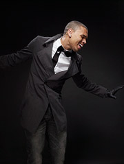 Chris Brown in a shot from his Vibe cover shoot.