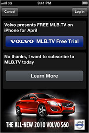 WINNING COMBO: Volvo teamed with MLB for a promotion that scored with consumers.