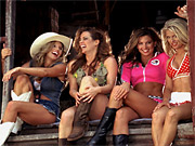 The 'Wal-Mart Girls' spot first aired during a college football bowl game last week.