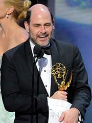 'Mad Men' creator Matthew Weiner accepts the Emmy for Best Drama.