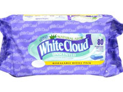 Walmart removed White Cloud from its diaper shelves in March, though the brand's training pants, baby wipes and toilet paper remain on sale there.