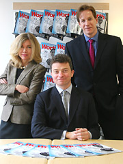 Worth execs (l-r): Alison Parks, General Manager, Patrick Williams, Publisher and Richard Bradley, Editor in Chief