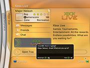An IM chat screen via the Xbox.