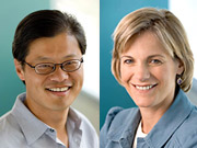 Yahoo co-founder and CEO Jerry Yang and Yahoo President Sue Decker