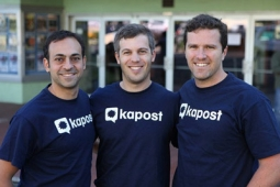 Kapost co-founders Nadar Akhnoukh, Mike Lewis and Toby Murdock