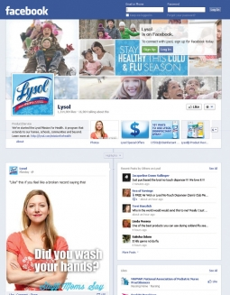 Facebook has proven a good fit for Lysol.