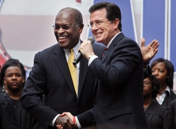 Colbert's antics in South Carolina have shown how ludicrous the political situation is .