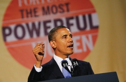 President Obama at Fortune's 2010 Most Powerful Women event.