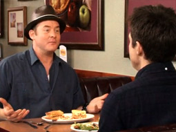 The first episode of 'Always Open' features guest Jason Bateman talking to host David Koechner.