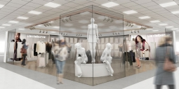 A rendering of a Liz Claiborne shop, which will be one of the 100 shops in JC Penney's newly unveiled Main Street concept.