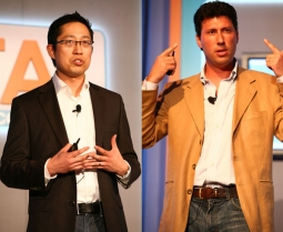 Winston Wang and Lucas Herscovici of A-B InBev present the