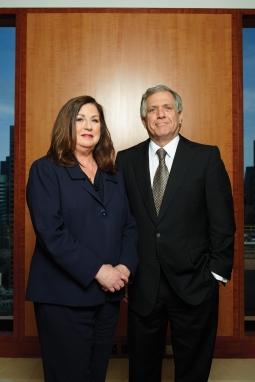 CBS's Power Pair: Jo Ann Ross, CBS ad-sales president, and Leslie Moonves, president-CEO