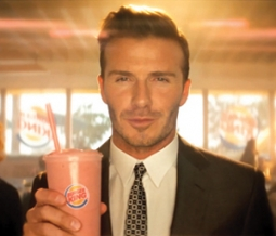 One of the celebrity ads Burger King ran, featuring David Beckham.