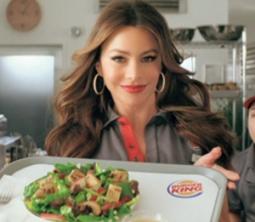 Sofia Vergara promotes an item as part of a Burger King menu expansion.