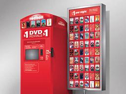 A RedBox DVD rental kiosk.