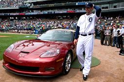 Armando Galarraga and his new Corvette