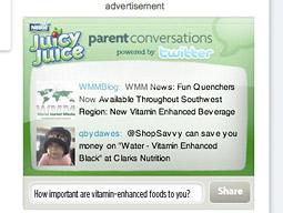 Juicy Juice's Twitter display ad