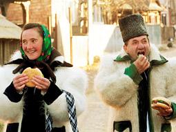 'Whopper Virgins' in Romania take part in the taste test.