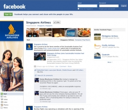 Singapore Airlines' Facebook page