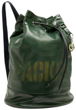 The NFL's new party collection fashion line includes this $795 leather bag, perfect for the girl who loves Green Bay.
