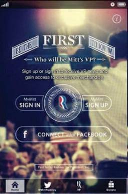 The Mitt's VP app was one of the digital tools that collected voter data.