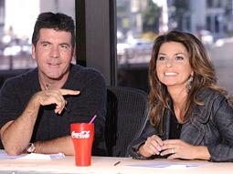 Simon Cowell, Shania Twain and Coca-Cola on 'American Idol'